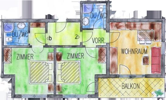 Zimmerplan Widder